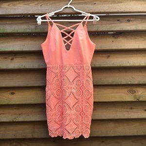 Peachy Lace Sundress